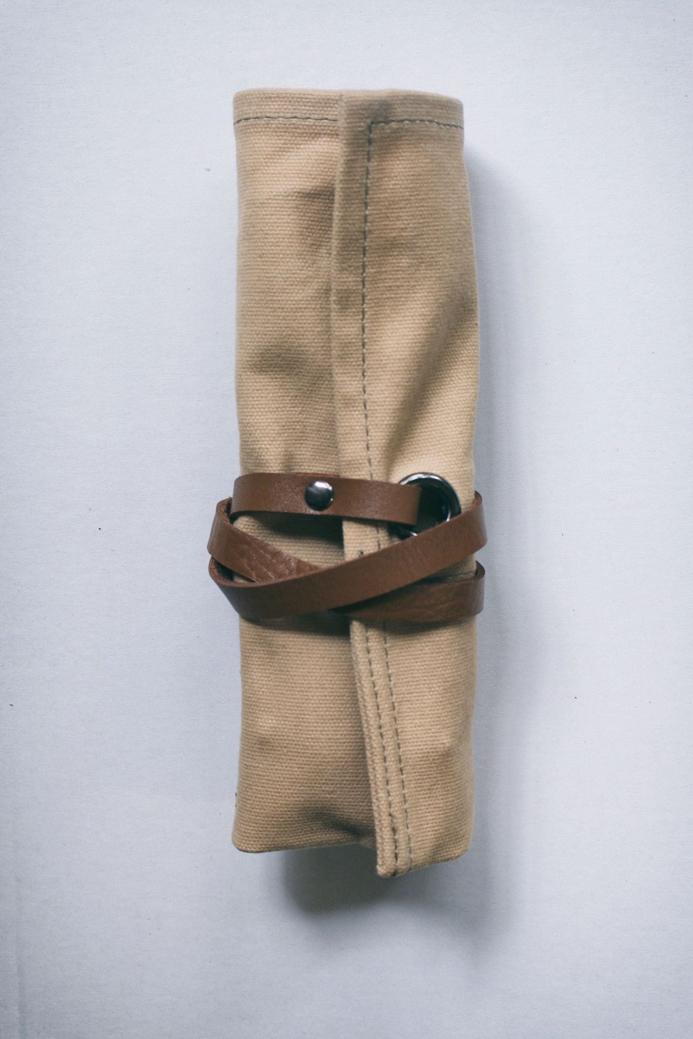 Tan Waxed Canvas Watch Roll