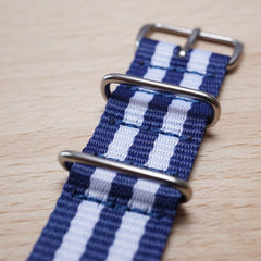 Blue White N.A.T.O Watch Strap