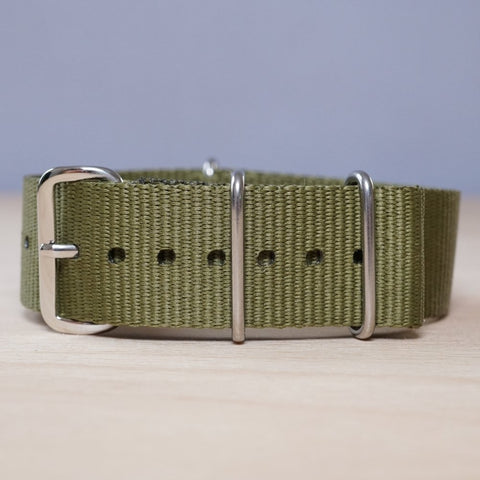 Olive Green N.A.T.O Watch Strap