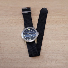 Perlon Black Watch Strap