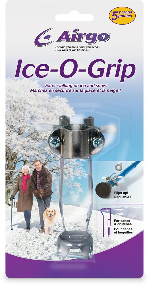 Ice-o-Grips Cane and Crutch Attachment