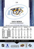 2013-14 Upper Deck Ice #39 Shea Weber MINT