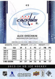 2013-14 Upper Deck Ice #49 Alexander Ovechkin MINT Capitals