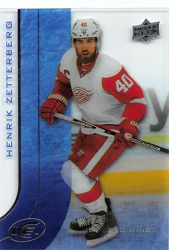2015-16 Upper Deck Ice #13 Henrik Zetterberg MINT Red Wings