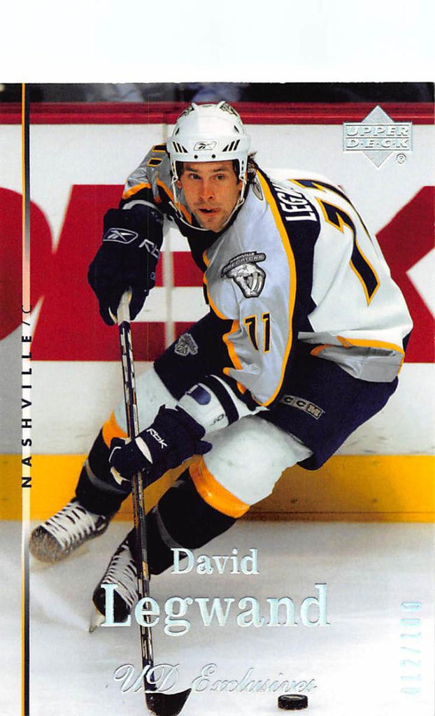 2007-08 Upper Deck Exclusives Parallel #13 David Legwand MINT Hockey NHL 12/100 Predators