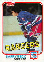 1981-82 Topps #3 Barry Beck NM-MT Hockey NHL NY Rangers