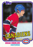 1981-82 Topps #10 Brian Engblom NM-MT Hockey NHL Canadiens