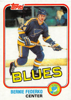 1981-82 Topps #12 Bernie Federko NM-MT Hockey NHL Blues