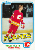 1981-82 Topps #26 Willi Plett NM-MT Hockey NHL Flames