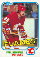 1981-82 Topps #28 Paul Reinhart NM-MT Hockey NHL Flames