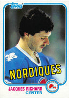 1981-82 Topps #29 Jacques Richard NM-MT Hockey NHL Nordiques