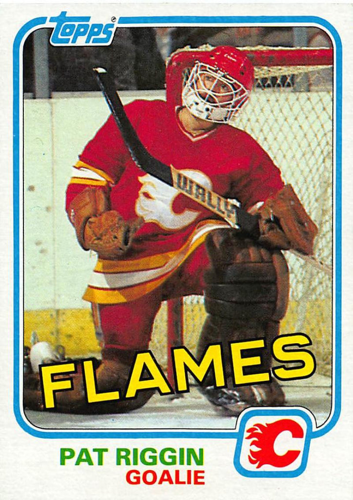 1981-82 Topps #30 Pat Riggin NM-MT Hockey NHL RC Rookie Flames