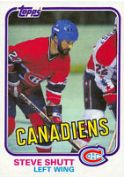 1981-82 Topps #34 Steve Shutt NM-MT Hockey NHL Canadiens