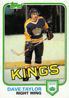 1981-82 Topps #40 Dave Taylor NM-MT Hockey NHL Kings