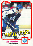 1981-82 Topps #42 Ian Turnbull NM-MT Hockey NHL Maple Leafs