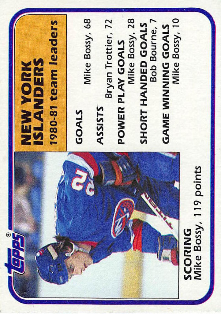 1981-82 Topps #57 Mike Bossy TL NM-MT Hockey NHL NY Islanders