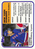 1981-82 Topps #58 Anders Hedberg TL NM-MT Hockey NHL NY Rangers