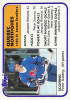 1981-82 Topps #61 Peter Stastny TL NM-MT Hockey NHL Nordiques