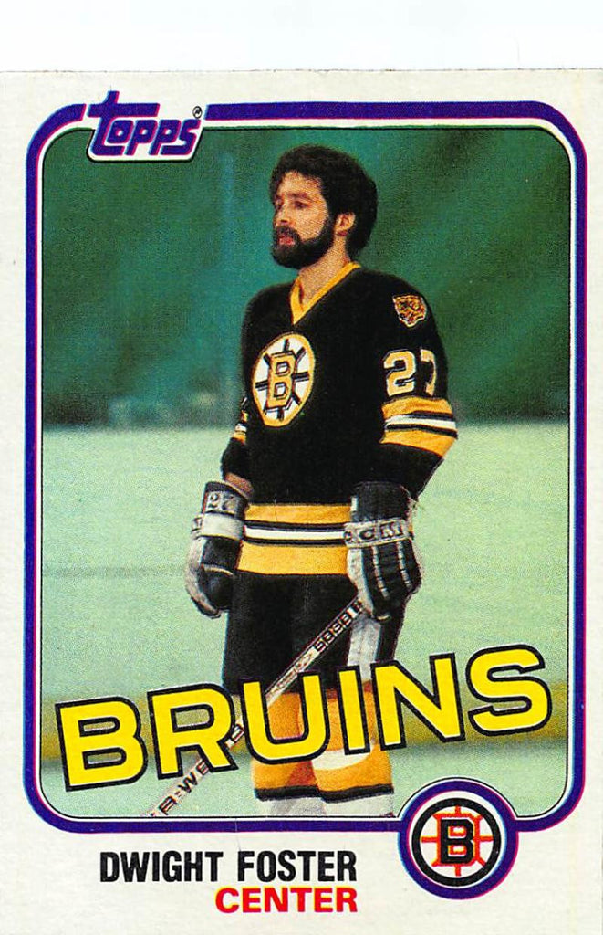 1981-82 Topps #E67 Dwight Foster NM-MT Hockey NHL Bruins