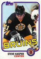 1981-82 Topps #E68 Steve Kasper NM-MT Hockey NHL RC Rookie Bruins