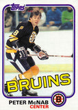 1981-82 Topps #E69 Peter McNab NM-MT Hockey NHL Bruins