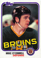 1981-82 Topps #E70 Mike O'Connell NM-MT Hockey NHL Bruins