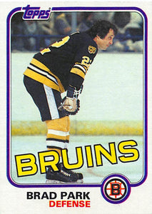 1981-82 Topps #E72 Brad Park NM-MT Hockey NHL Bruins