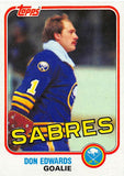1981-82 Topps #E75 Don Edwards NM-MT Hockey NHL Sabres
