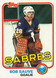 1981-82 Topps #E77 Bob Sauve NM-MT Hockey NHL Sabres
