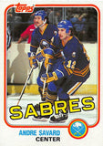 1981-82 Topps #E78 Andre Savard NM-MT Hockey NHL Sabres