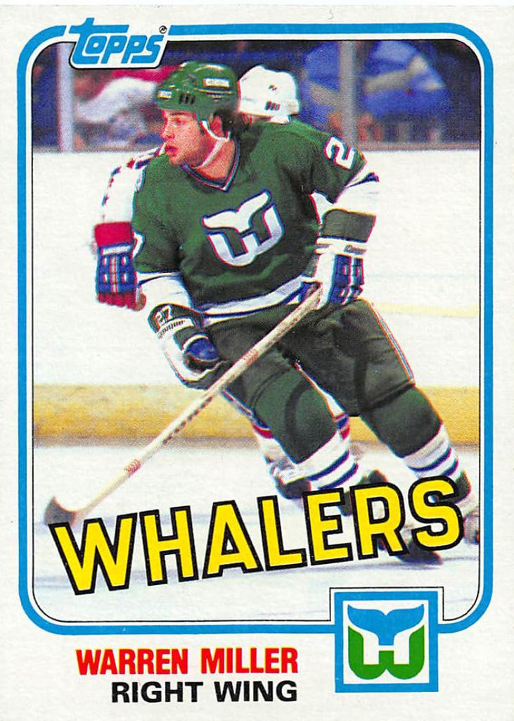 1981-82 Topps #E84 Warren Miller NM-MT Hockey NHL RC Rookie Whalers