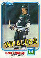 1981-82 Topps #E86 Blaine Stoughton NM-MT Hockey NHL Whalers