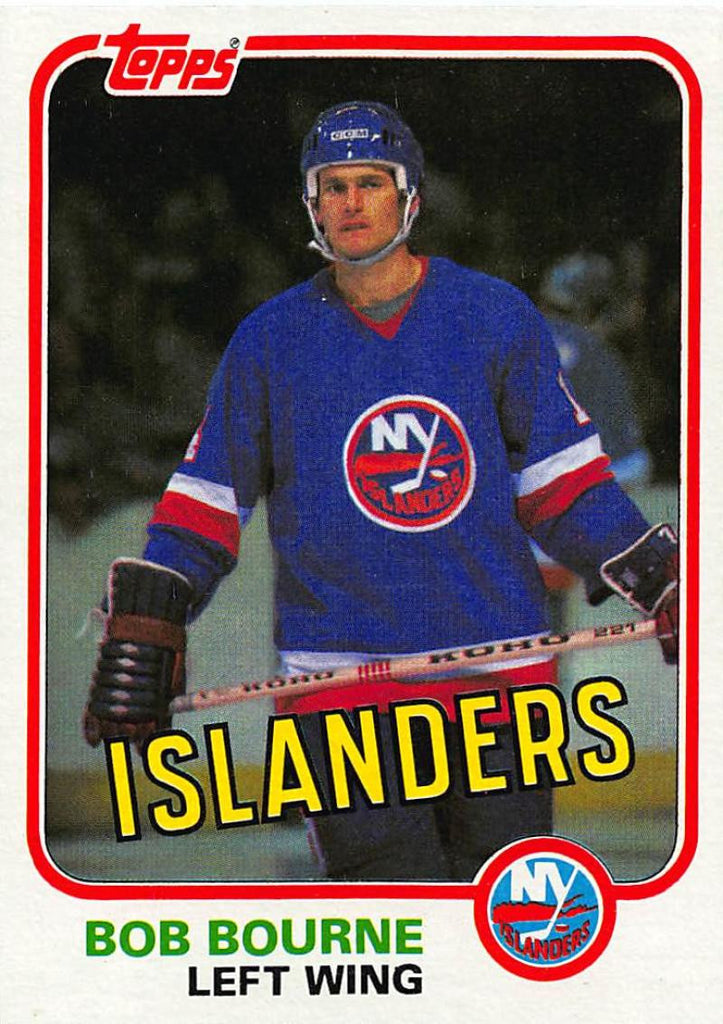 1981-82 Topps #E87 Bob Bourne NM-MT Hockey NHL NY Islanders