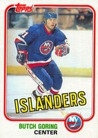 1981-82 Topps #E89 Butch Goring NM-MT Hockey NHL NY Islanders