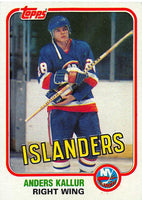 1981-82 Topps #E90 Anders Kallur NM-MT Hockey NHL NY Islanders