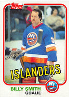 1981-82 Topps #E93 Billy Smith NM-MT Hockey NHL NY Islanders