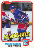 1981-82 Topps #E98 Anders Hedberg NM-MT Hockey NHL NY Rangers