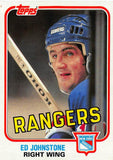1981-82 Topps #E99 Ed Johnstone NM-MT Hockey NHL NY Rangers