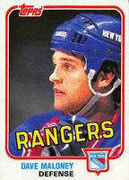 1981-82 Topps #E100 Dave Maloney NM-MT Hockey NHL NY Rangers