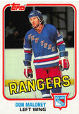 1981-82 Topps #E101 Don Maloney NM-MT Hockey NHL NY Rangers