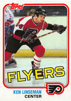 1981-82 Topps #E107 Ken Linseman NM-MT Hockey NHL Flyers