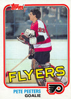 1981-82 Topps #E109 Pete Peeters NM-MT Hockey NHL Flyers