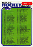 1981-82 Topps #E111 Checklist NM-MT Hockey NHL