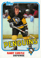 1981-82 Topps #E112 Randy Carlyle NM-MT Hockey NHL Penguins