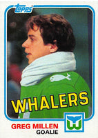1981-82 Topps #E115 Greg Millen NM-MT Hockey NHL Whalers