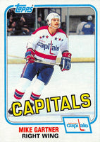 1981-82 Topps #E117 Mike Gartner NM-MT Hockey NHL Capitals