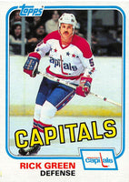 1981-82 Topps #E118 Rick Green NM-MT Hockey NHL Capitals