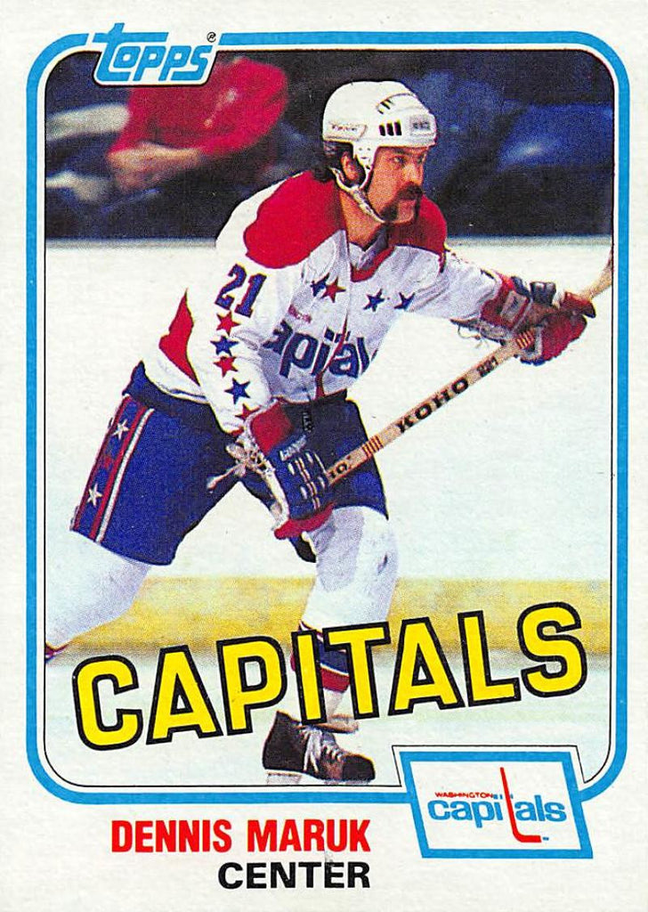 1981-82 Topps #E120 Dennis Maruk NM-MT Hockey NHL Capitals