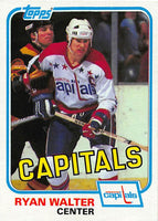 1981-82 Topps #E122 Ryan Walter NM-MT Hockey NHL Capitals