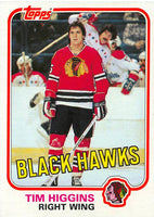 1981-82 Topps #W69 Tim Higgins NM-MT Hockey NHL RC Rookie Blackhawks